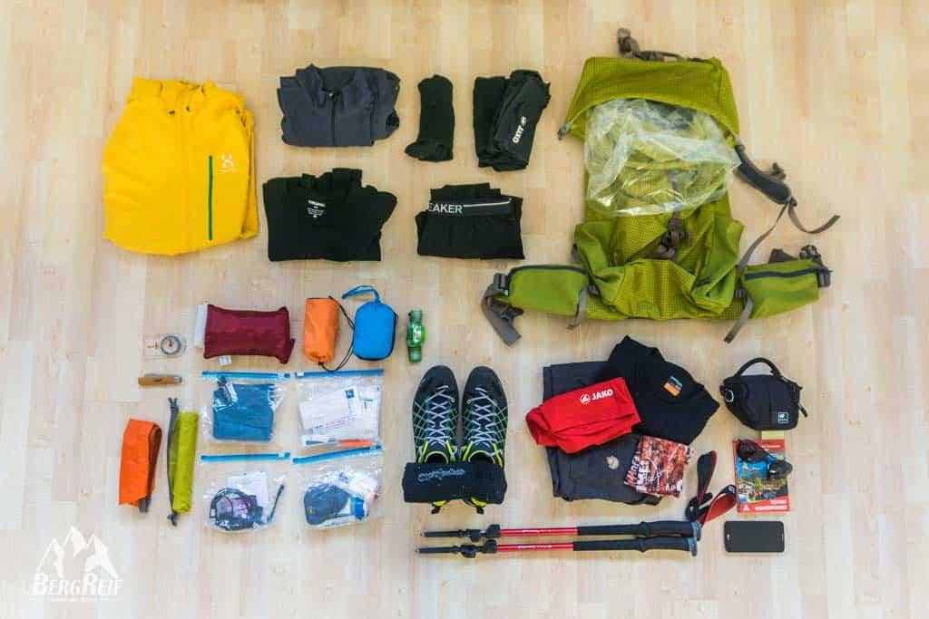 Packliste Hüttentour Ultraleicht Wandern Outdoor Blog BergReif