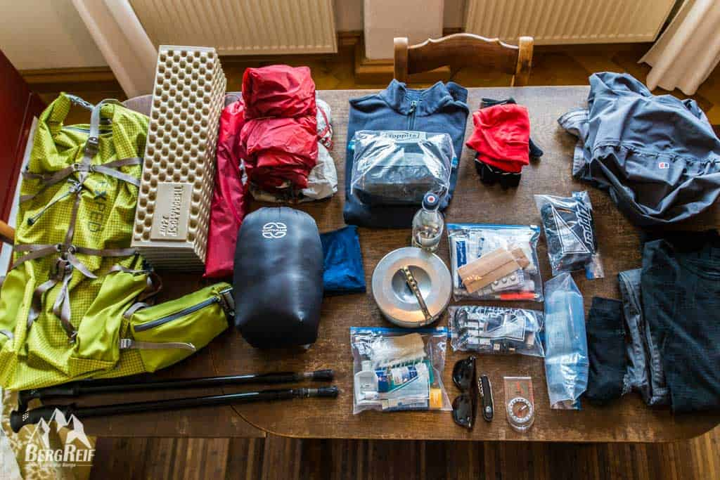 Trekking Packliste ultraleicht Trekking Ausrüstung Outdoor Blog BergReif