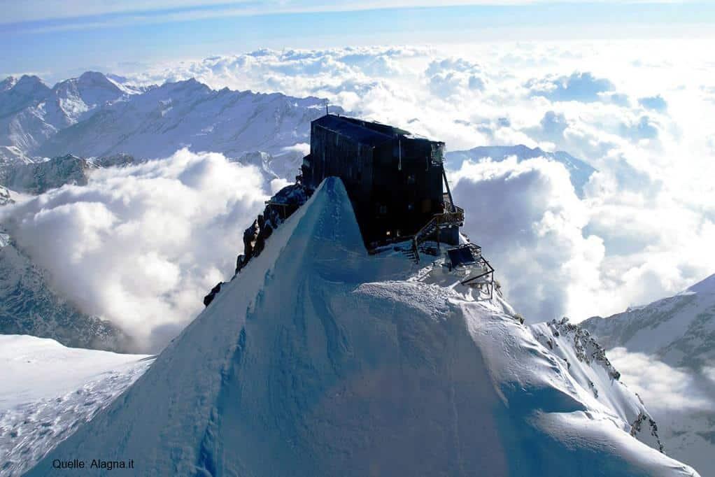 höchste Alpenhütten Capanna Regina Margherita