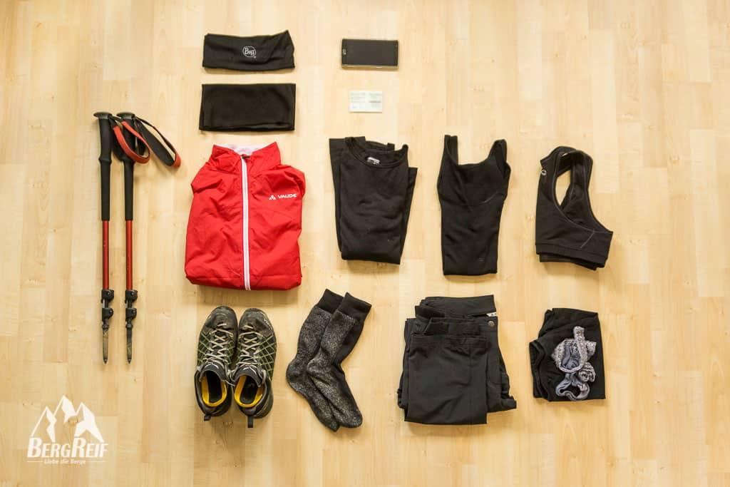 Leichte Wanderausrüstung Frauen Packliste