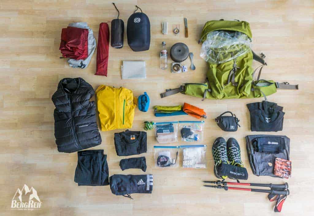 trekking packliste f r eine mehrt gige trekkingtour bergreif. Black Bedroom Furniture Sets. Home Design Ideas