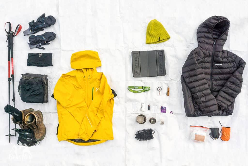 e2241dde96fcc8 Packliste Winter Wandern  Ultraleicht und trotzdem warm- BergReif